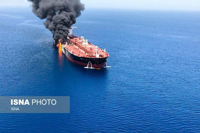 نفتکش های حادثه دیده در دریای عمان غرق نشده اند ، حال عمومی خدمه شناورها مطلوب است