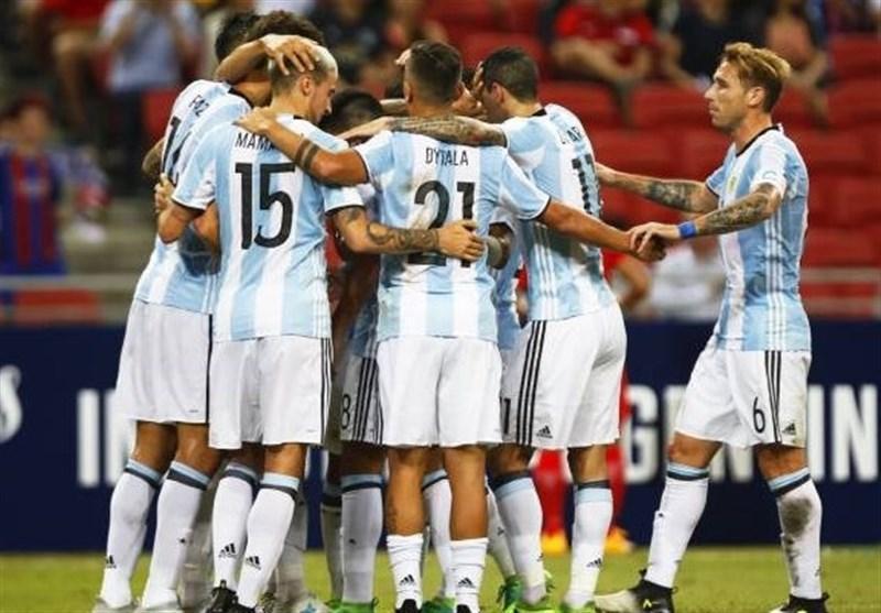 آرژانتین با 6 گل از سد سنگاپور عبور کرد
