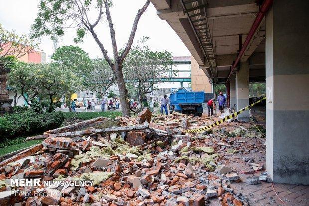 آمار کشته شدگان زلزله در اندونزی به 387 نفر رسید