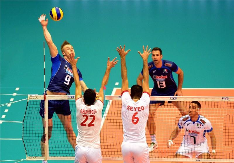 والیبال ایتالیا هنوز از ایران می ترسد