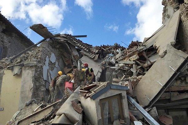 شمار تلفات زلزله ایتالیا به 160 کشته رسید