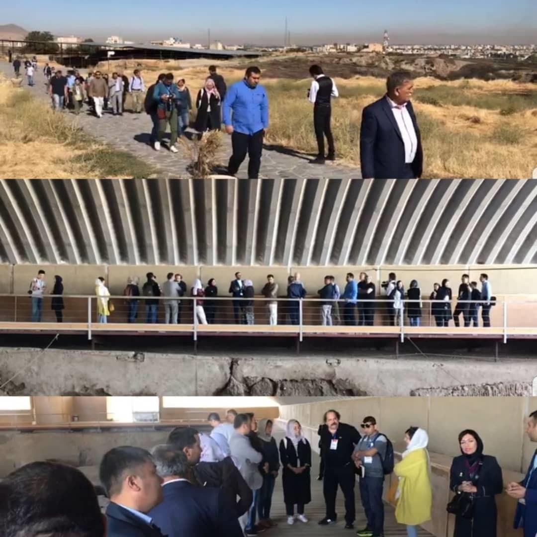 میهمانان اجلاس راه ابریشم از جاذبه های گردشگری همدان بازدید کردند