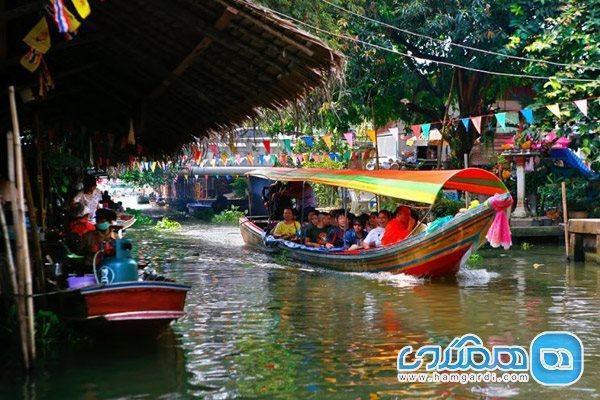 معروف ترین بازارهای شناور تایلند و تنوعی از رنگ و طعم