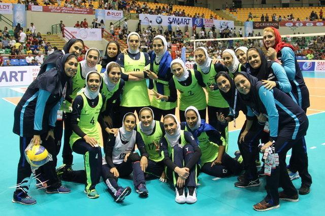کسب مقام پنجمی والیبال زنان ایران در قاره کهن