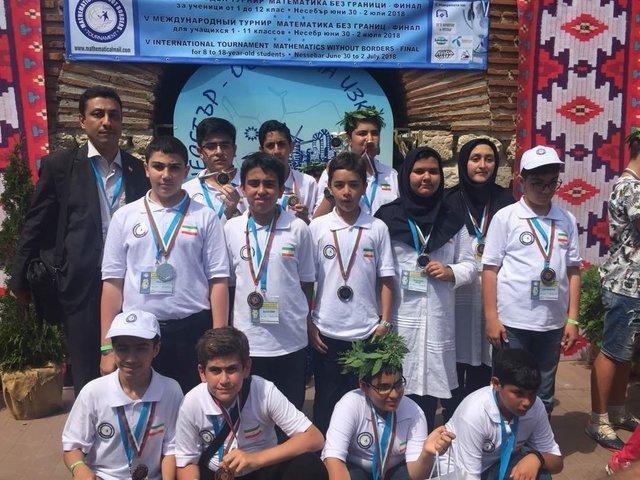 12 مدال رنگارنگ، ره آورد دانش آموزان اعزامی به تورنمنت بین المللی ریاضیات