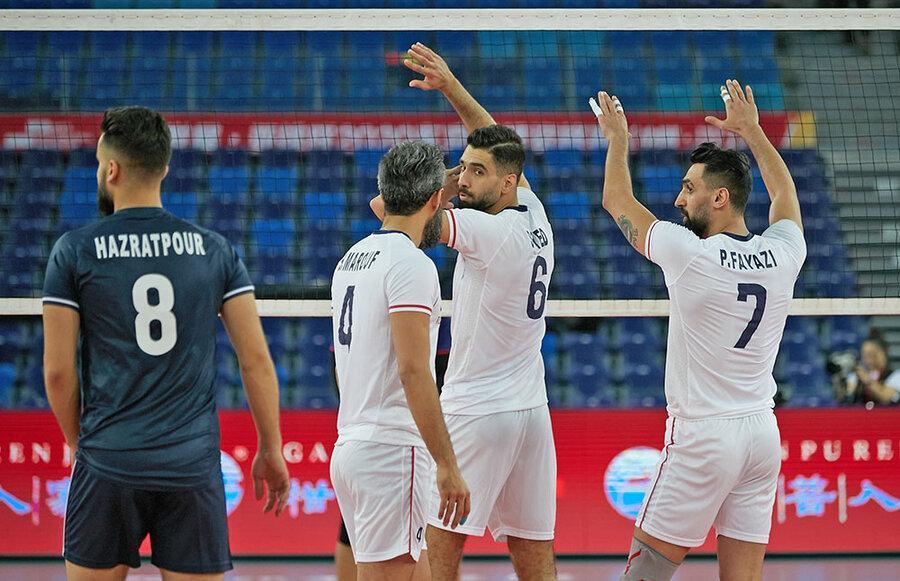 والیبال انتخابی المپیک؛ برد آسان تیم مردان ایران مقابل چین تایپه