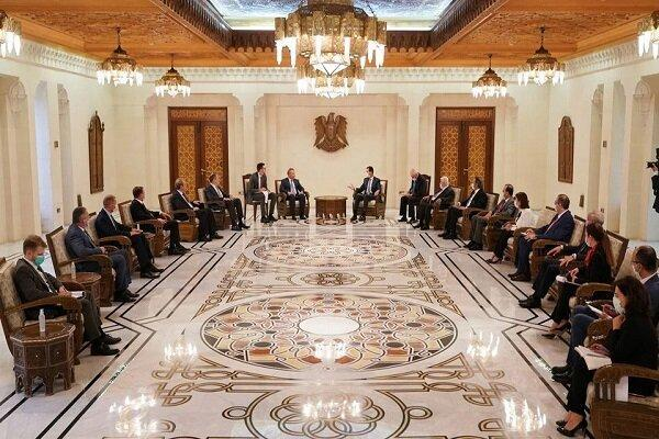 بشار اسد:بر تسهیل سرمایه گذاری روسیه در سوریه اهتمام زیادی داریم