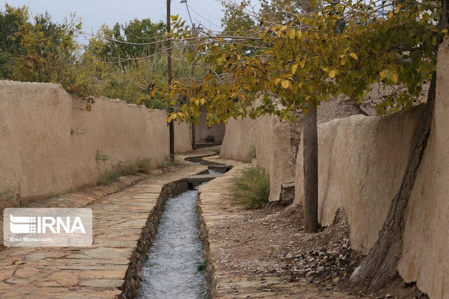 بازسازی کوچه باغ تاریخی کنده درخت سمنان