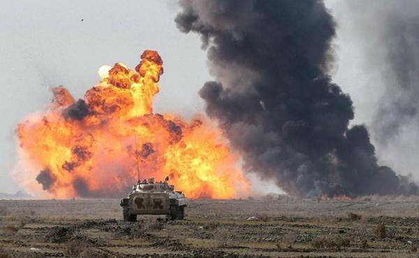 (ویدئو) مانور ارتش در ساحل دریای عمان