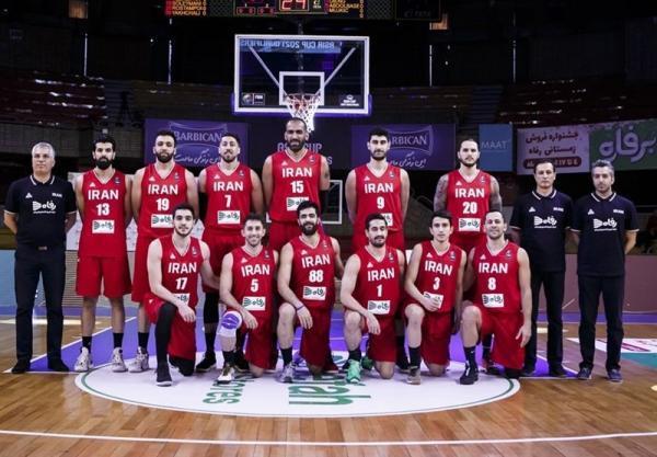 همگروهی تیم ملی بسکتبال ایران با آمریکا و فرانسه در المپیک 2020 توکیو
