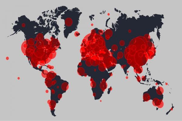 کرونا در 221 کشور و قلمرو ، 23 کشور میلیونی هستند
