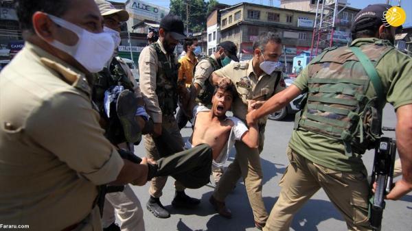 حمله پلیس به عزاداران حسینی در کشمیر